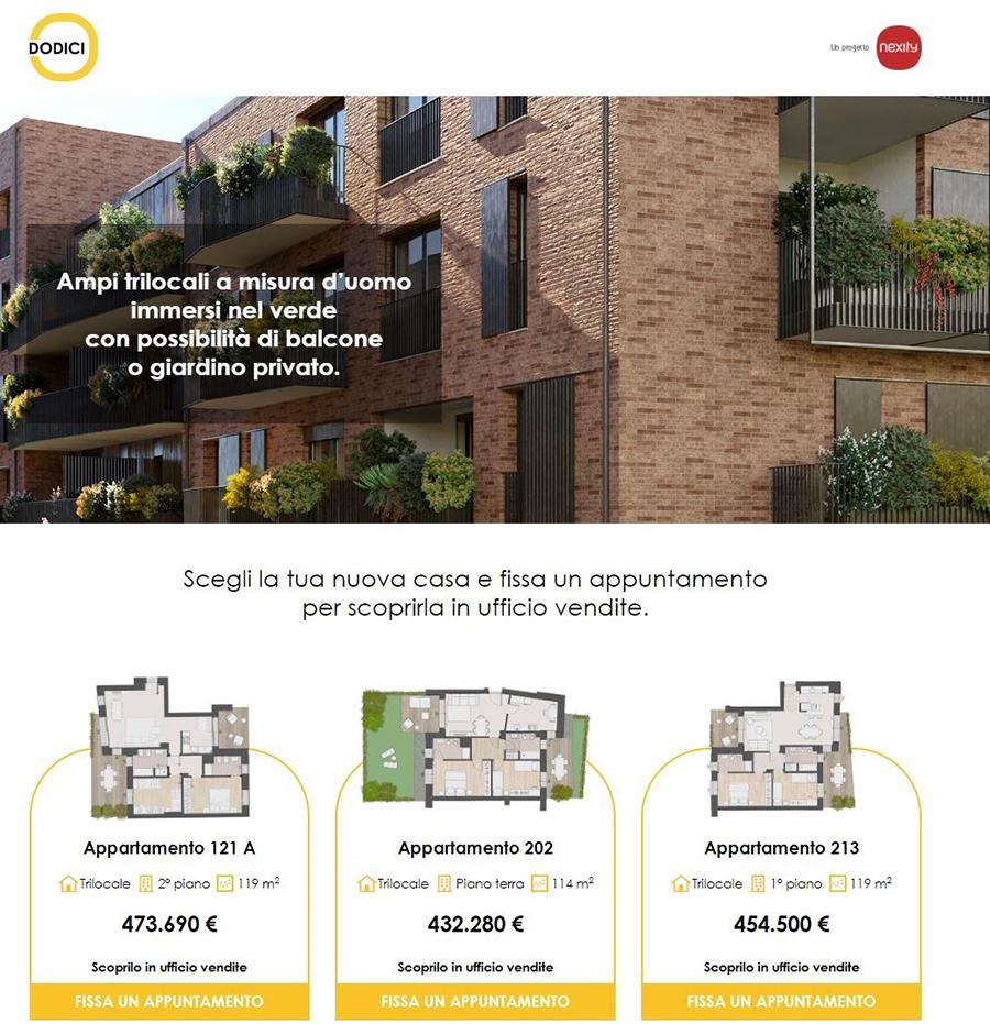 """Nexity Italia sceglie Melismelis come partner digital anche per il nuovo progetto residenziale """"Dodici O"""""""