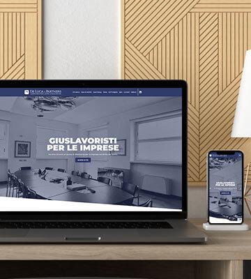 """Melismelis firma il nuovo sito dello studio legale """"De Luca & Partners"""""""