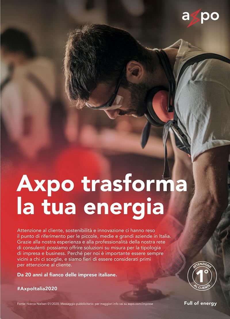 AXPO Italia è ora on air con la nuova campagna multicanale <i>Trasforma la tua energia</i> a firma Melismelis